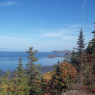 1er point de vue: vue sur le Parc national du Bic